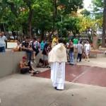 Manhã de Evangelização na praça da Catedral