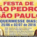 Paróquia São Pedro e São Paulo celebra os padroeiros
