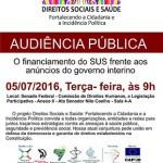 Representantes da CNBB participam de Audiência Pública sobre o SUS
