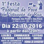 1ª Festa da Pastoral do Povo em Situação de Rua