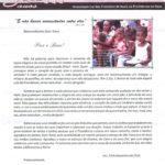Carta de Agradecimento da Associação Lar São Francisco na Providência de Deus