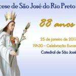Diocese de São José do Rio Preto celebra 88 Anos de fé e história