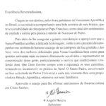 Santa Sé envia carta de agradecimento à Diocese de São José do Rio Preto