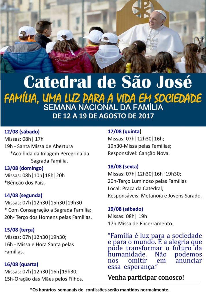Cartaz semana da Família-CATEDRAL
