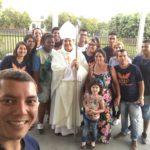 Dom Tomé visita a paróquia Divino Espírito Santo
