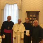 Audiência: frei Francisco Belotti e Papa