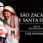 Hoje a Igreja celebra São Zacarias e Santa Isabel, pais de João Batista