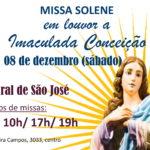 Missa Solene em louvor a Imaculada Conceição