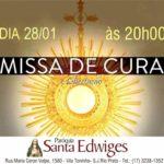 Missa na Paróquia Santa Edwiges