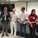 Foto por: Lucas Israel | Edinho Araújo, Jorge Fares, Paulo Skaf e Amália Tieco (à direita) durante evento no Hospital de Base