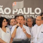 Foto por: Divulgação/ Governo do Estado de São Paulo | João Doria discursa durante inauguração de ala de radiologia em Hospital de Catanduva