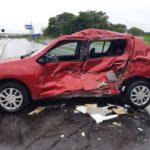 Carro ficou destruído após batida | Imagem: Polícia Rodoviária Federal