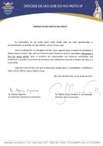 NOTA DA ASSESSORIA DE COMUNICAÇÃO E PASTORAL PRESBITERAL DIOCESANA