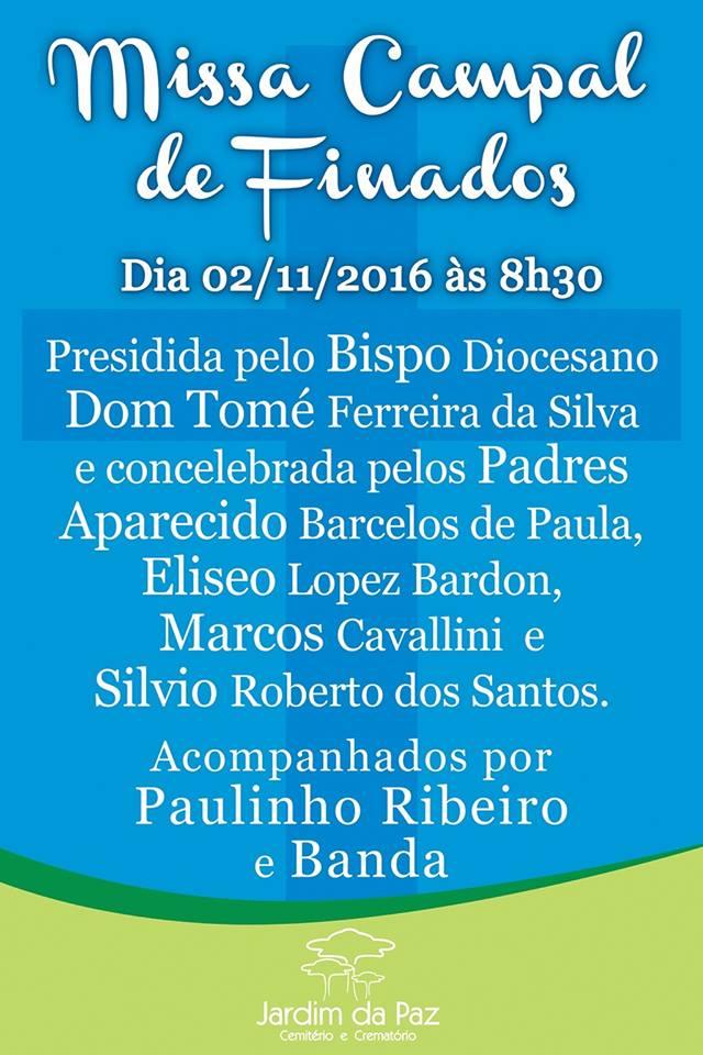 Dom Tomé celebra Missa Campal de Finados