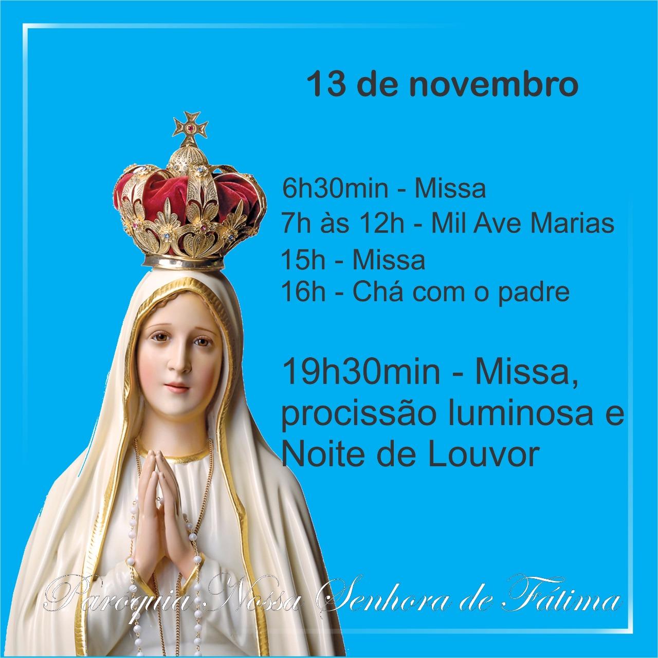 Paróquia Nossa Senhora de Fátima realiza Dia de Oração