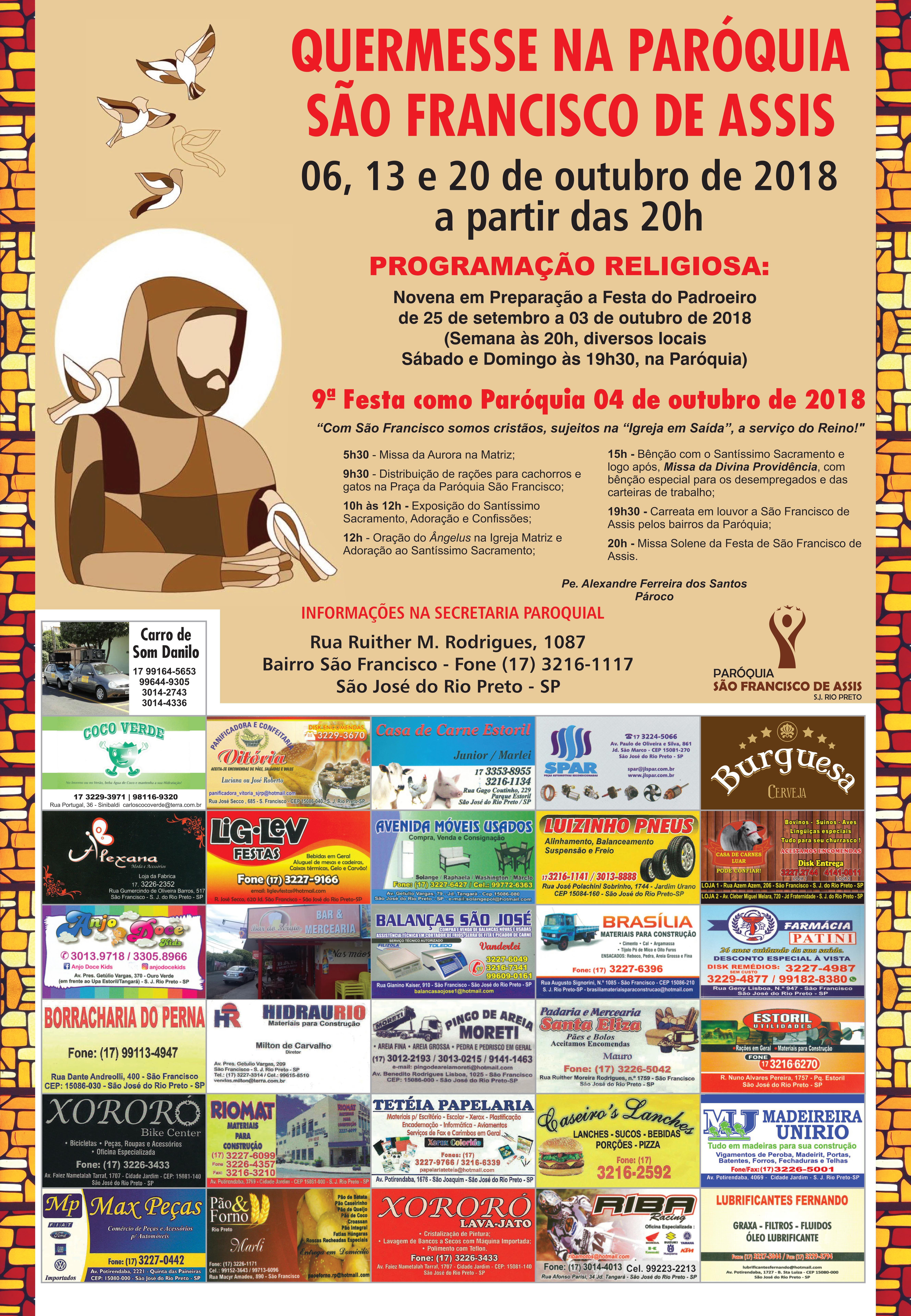 Quermesse: Paróquia São Francisco de Assis