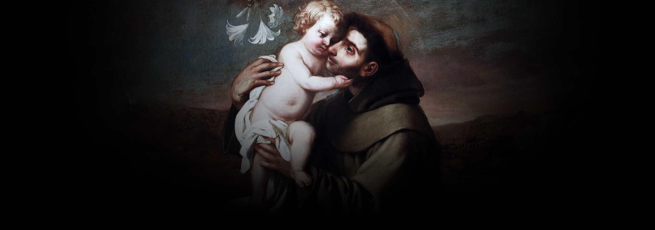Por que Santo Antônio está abraçando o Menino Jesus?